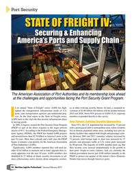 Maritime Logistics Professional Magazine, page 54,  Jan/Feb 2019