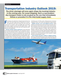 Maritime Logistics Professional Magazine, page 14,  Mar/Apr 2019