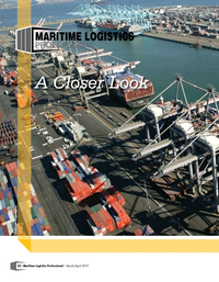 Maritime Logistics Professional Magazine, page 24,  Mar/Apr 2019
