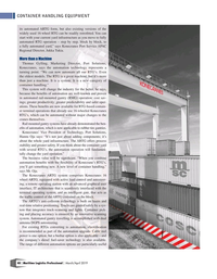 Maritime Logistics Professional Magazine, page 40,  Mar/Apr 2019