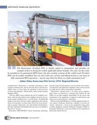 Maritime Logistics Professional Magazine, page 42,  Mar/Apr 2019