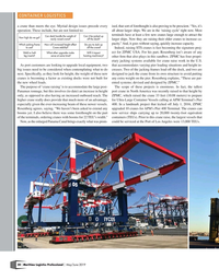 Maritime Logistics Professional Magazine, page 20,  May/Jun 2019