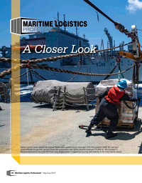 Maritime Logistics Professional Magazine, page 22,  May/Jun 2019