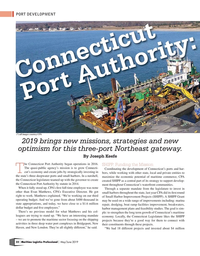 Maritime Logistics Professional Magazine, page 32,  May/Jun 2019