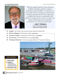 Maritime Logistics Professional Magazine, page 2,  May/Jun 2019