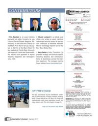 Maritime Logistics Professional Magazine, page 4,  May/Jun 2019