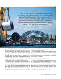 Maritime Logistics Professional Magazine, page 15,  Jul/Aug 2019