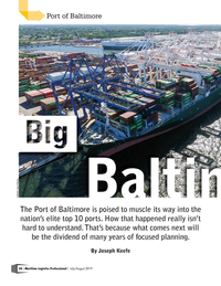 Maritime Logistics Professional Magazine, page 24,  Jul/Aug 2019
