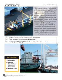 Maritime Logistics Professional Magazine, page 2,  Jul/Aug 2019