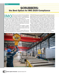 Maritime Logistics Professional Magazine, page 10,  Sep/Oct 2019