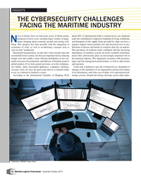 Maritime Logistics Professional Magazine, page 22,  Sep/Oct 2019