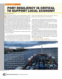 Maritime Logistics Professional Magazine, page 24,  Nov/Dec 2019