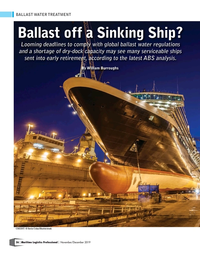 Maritime Logistics Professional Magazine, page 36,  Nov/Dec 2019