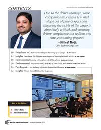 Maritime Logistics Professional Magazine, page 2,  Nov/Dec 2019