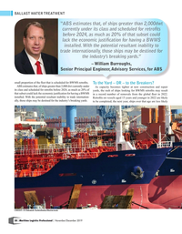 Maritime Logistics Professional Magazine, page 38,  Nov/Dec 2019