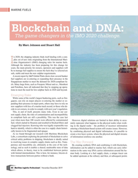 Maritime Logistics Professional Magazine, page 40,  Nov/Dec 2019