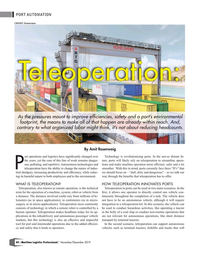 Maritime Logistics Professional Magazine, page 44,  Nov/Dec 2019
