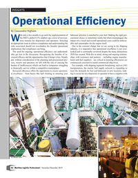 Maritime Logistics Professional Magazine, page 46,  Nov/Dec 2019