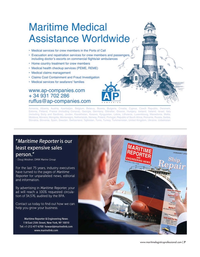 Maritime Logistics Professional Magazine, page 7,  Nov/Dec 2019