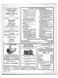 Maritime Reporter Magazine, page 45,  Feb 1968