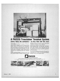 Maritime Reporter Magazine, page 3,  Feb 1968 dockside ter-minal systems