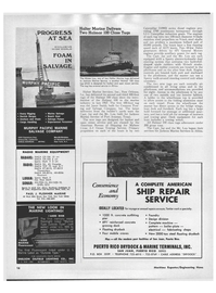 Maritime Reporter Magazine, page 18,  Jan 1969 Derrick Barges