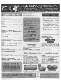 Maritime Reporter Magazine, page 56,  Jan 1969 BULLETIN MG-1-47 FOR PROMPT SERVICE ON ALL ELECTRICAL EQUIPMENT