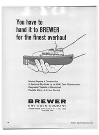 Maritime Reporter Magazine, page 64,  Jan 1969 Hour Service BREWER DRY DOCK COMPANY MARINERS HARBOR