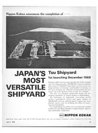 Maritime Reporter Magazine, page 49,  Apr 1970
