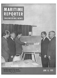 Maritime Reporter Magazine Cover Jun 15, 1970 -