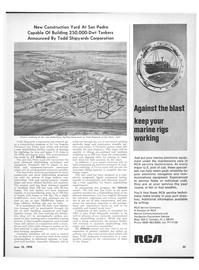 Maritime Reporter Magazine, page 21,  Jun 15, 1970