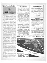 Maritime Reporter Magazine, page 45,  Jun 15, 1970