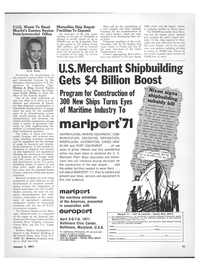 Maritime Reporter Magazine, page 9,  Jan 1971