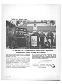 Maritime Reporter Magazine, page 11,  Jan 1971