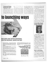 Maritime Reporter Magazine, page 27,  Jan 1971