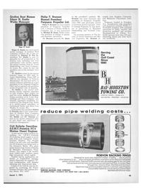 Maritime Reporter Magazine, page 43,  Mar 1971