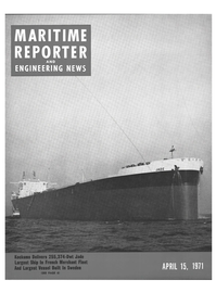 Maritime Reporter Magazine Cover Apr 15, 1971 -