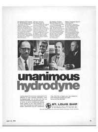 Maritime Reporter Magazine, page 17,  Apr 15, 1971 Walter F. Hagestad