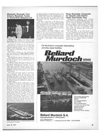 Maritime Reporter Magazine, page 33,  Apr 15, 1971 Robert M. Catharine Jr.