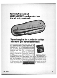 Maritime Reporter Magazine, page 39,  Apr 15, 1971 marine alkyd enamels