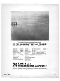 Maritime Reporter Magazine, page 5,  Apr 15, 1971 ZEE TASMAN ZEE