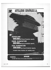 Maritime Reporter Magazine, page 21,  Jun 1971