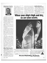 Maritime Reporter Magazine, page 39,  Jun 1971