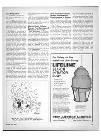 Maritime Reporter Magazine, page 13,  Aug 15, 1971 Omega