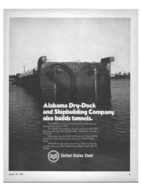Maritime Reporter Magazine, page 3,  Aug 15, 1971 Mobile River Tunnel