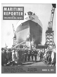 Maritime Reporter Magazine Cover Mar 15, 1973 -