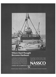 Maritime Reporter Magazine, page 17,  Mar 15, 1973 Kaiser Industries Corporation