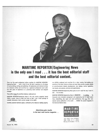 Maritime Reporter Magazine, page 21,  Mar 15, 1973