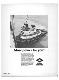 Maritime Reporter Magazine, page 5,  Mar 15, 1973 CURTIS BAY TOWING COMPANY