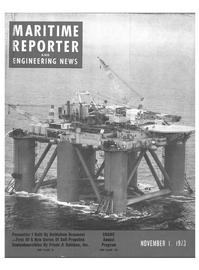 Maritime Reporter Magazine Cover Nov 1973 -
